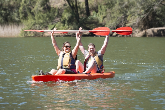 Happy paddlers at the Blue Mountains Adventure Race