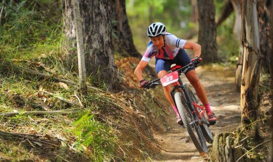 Renata Bucher in the Otway Odyssey mountain bike race