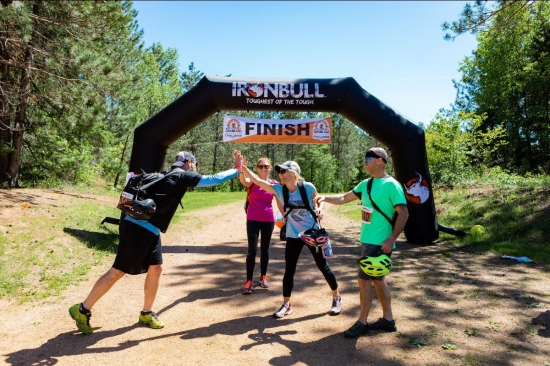 On the finish at the Rib Mountain Adventure Challenge