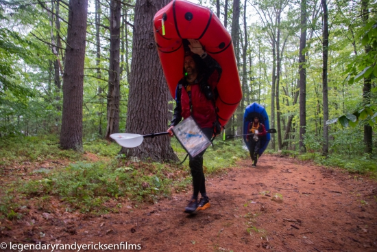 Packrafting in the Maine woods