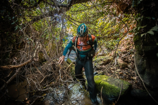 Trekking in the jungle in Paraguay