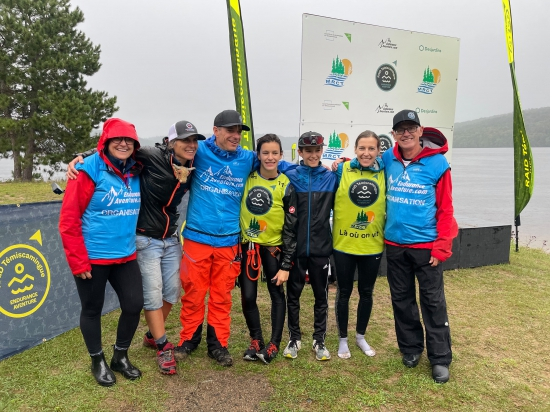 Families raced together at Raid Temiscamingue