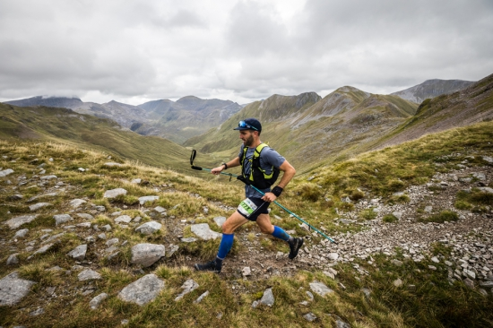 Ben James strides out at the 2021 Ring of Steall Skyrace