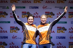 Sabine Spitz and Robyn De Groot win the Ladies prologue