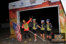 Adventure Medical Kits on the finish line